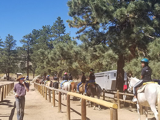 Rite of Passage Retreat Attendees horse riding