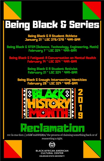 This past year's Being Black & Series during Black History Month 2019