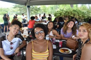 BAACC students at a picnic